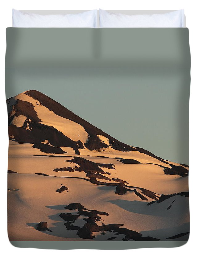 Middle Sister Duvet Cover featuring the photograph Evening Into Night by Laddie Halupa