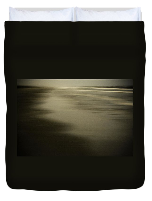 Corpus Christi Duvet Cover featuring the photograph Evening Sand by Marilyn Hunt