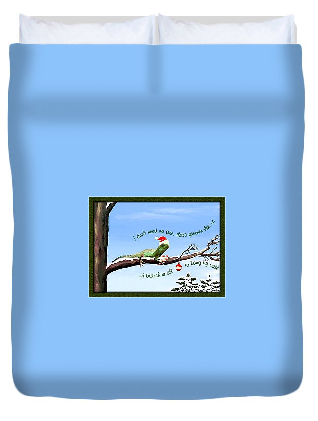 Christmas Card Duvet Cover featuring the painting Ezekiels Christmas by Susan Kinney