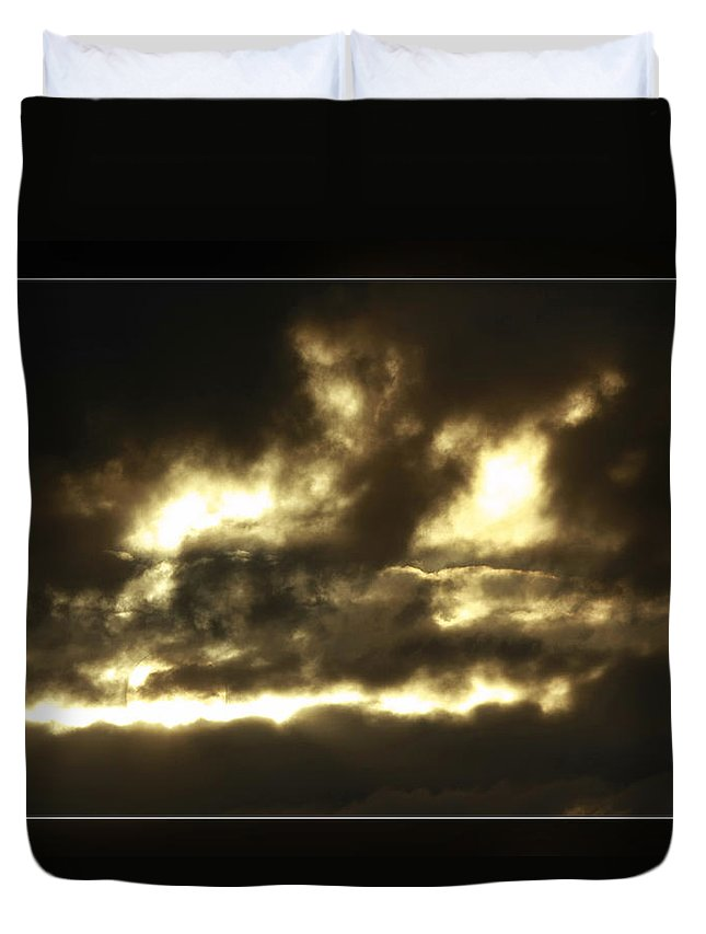 Duvet Cover featuring the photograph Face In Sky by Blake Richards