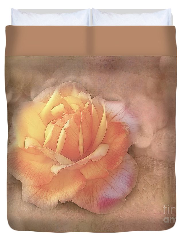 Rose Duvet Cover featuring the photograph Faded Memories by Judi Bagwell