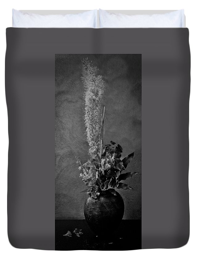 Decay Duvet Cover featuring the photograph Fading Life by Michele Mule'