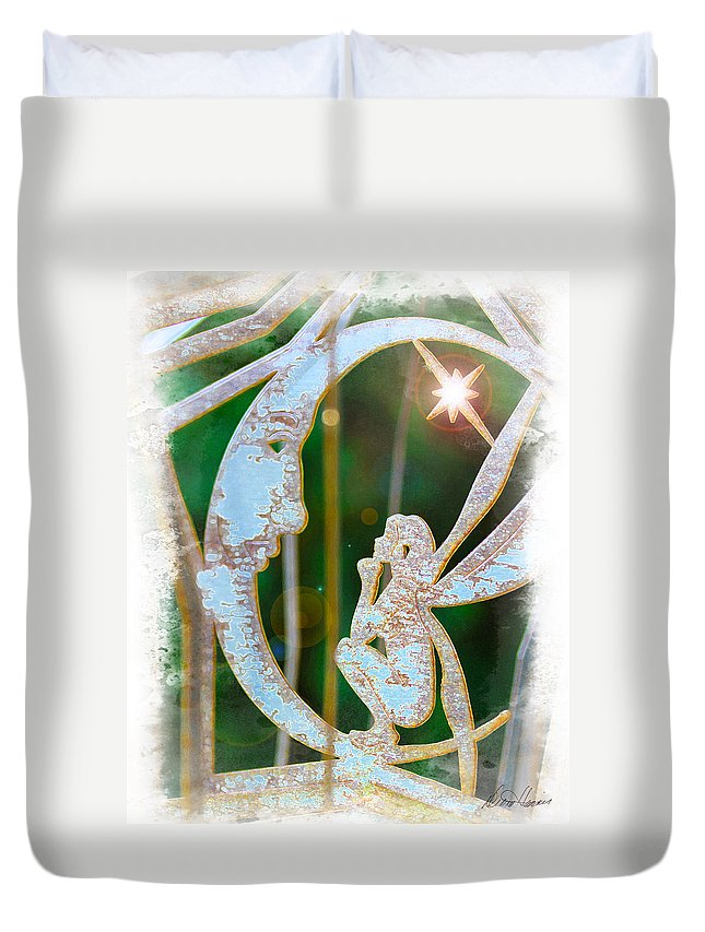 Faery Duvet Cover featuring the photograph Faery Moon by Diana Haronis