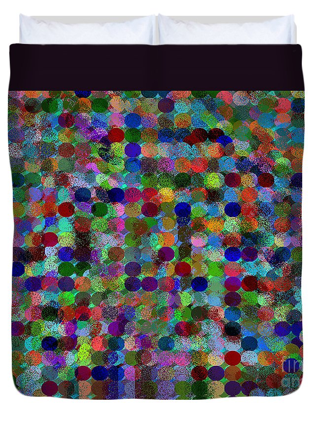 Ebsq Duvet Cover featuring the digital art Fairy Dust by Dee Flouton