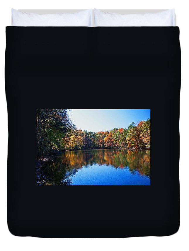 Fall Duvet Cover featuring the photograph Fall Colors by David Campbell