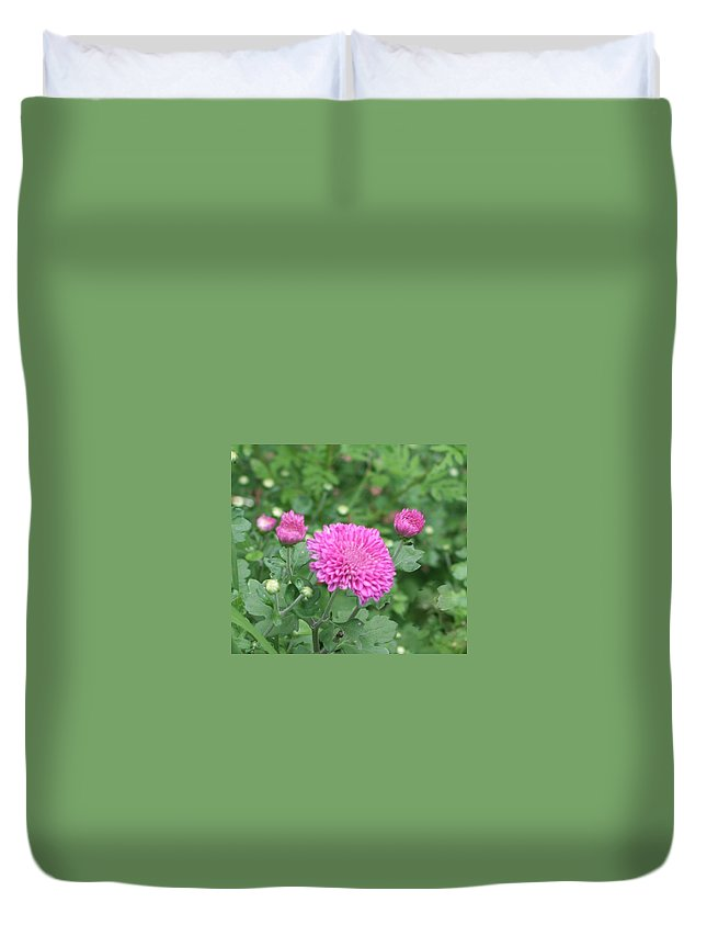 Photo Duvet Cover featuring the photograph Fall Flowers by Barbara S Nickerson
