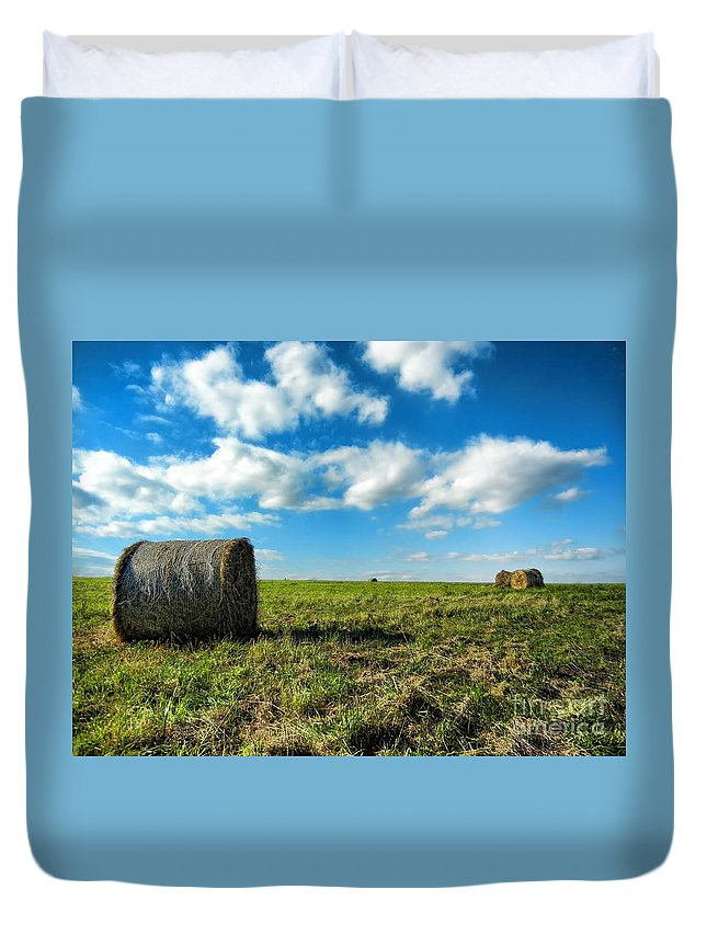 Fall Harvest Duvet Cover featuring the photograph Fall Harvest by Mariola Bitner