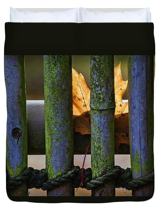 Art Duvet Cover featuring the photograph Fall Leaf by Karen Ulvestad