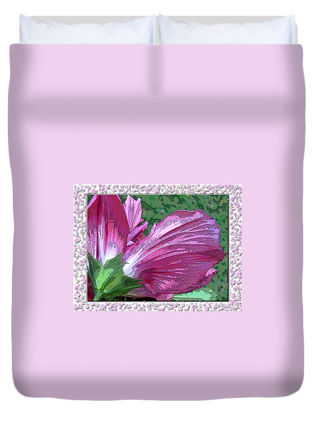 Nature Duvet Cover featuring the digital art Fancy Finish by Debbie Portwood
