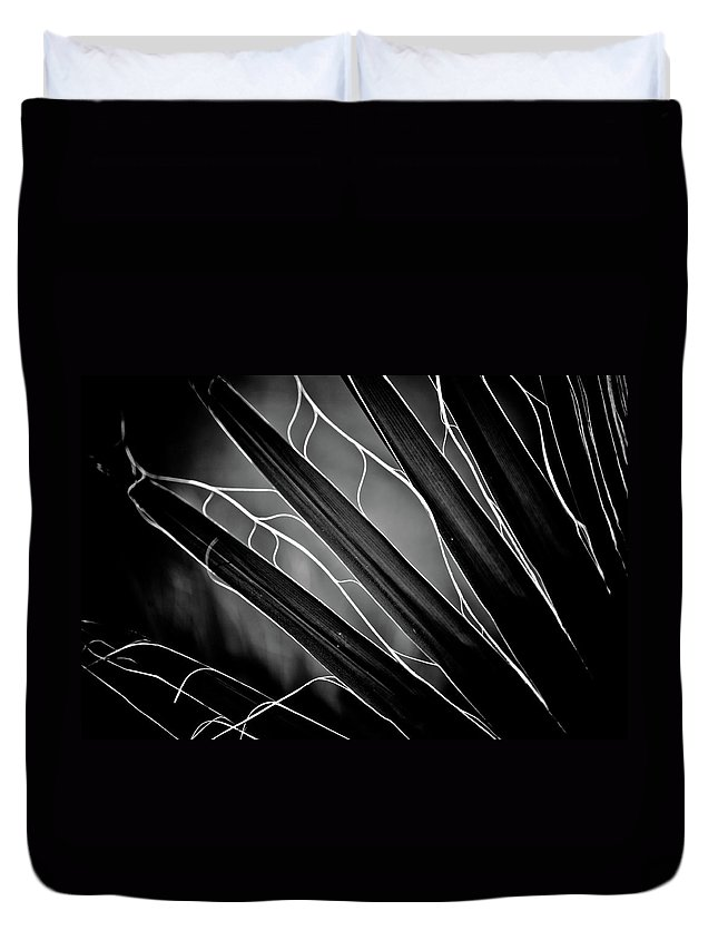 Art Duvet Cover featuring the photograph Fanned Leaves by Hakon Soreide
