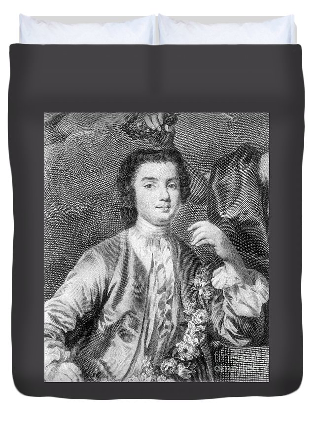 18th Century Duvet Cover featuring the photograph Farinelli (1705-1782) by Granger