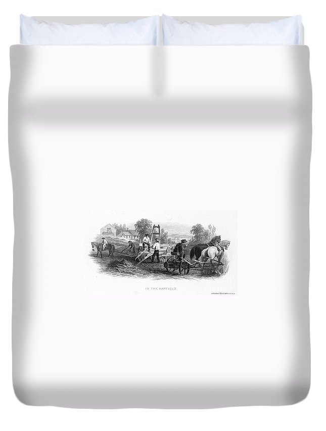 1870 Duvet Cover featuring the photograph Farming, C1870 by Granger