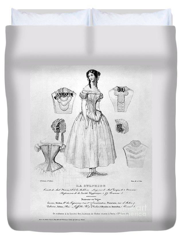 1850 Duvet Cover featuring the photograph Fashion: Corset, C1850 by Granger