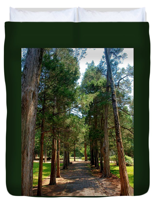 Faulkner Duvet Cover featuring the photograph Faulkner's Front Porch by Joshua House
