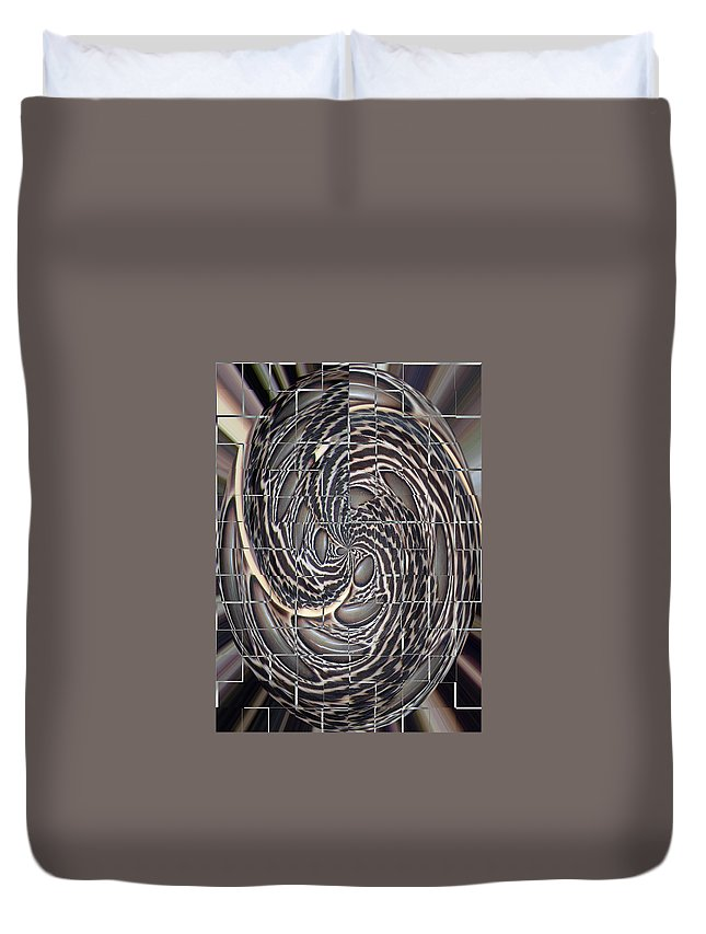 Swirl Duvet Cover featuring the photograph Feather Swirl by Darleen Stry