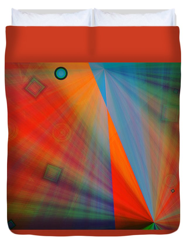 Emotions Duvet Cover featuring the digital art Feeling It by Marie Jamieson