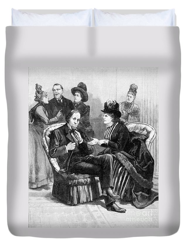 1888 Duvet Cover featuring the photograph Female Lobbyists, 1888 by Granger