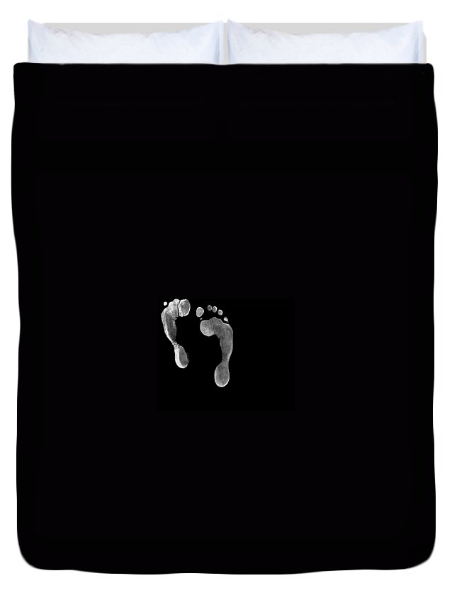 Foot Fetishism Duvet Cover featuring the photograph Fetishism by Lourry Legarde