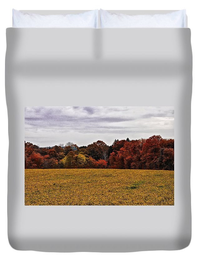 Fields Of Gold Duvet Cover featuring the photograph Fields Of Gold by Bill Cannon