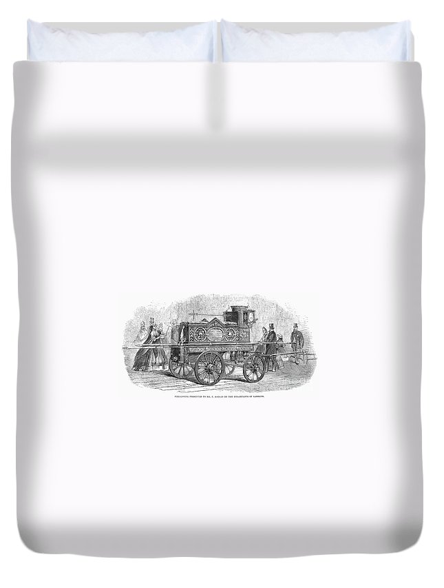 1862 Duvet Cover featuring the photograph Fire Engine, 1862 by Granger