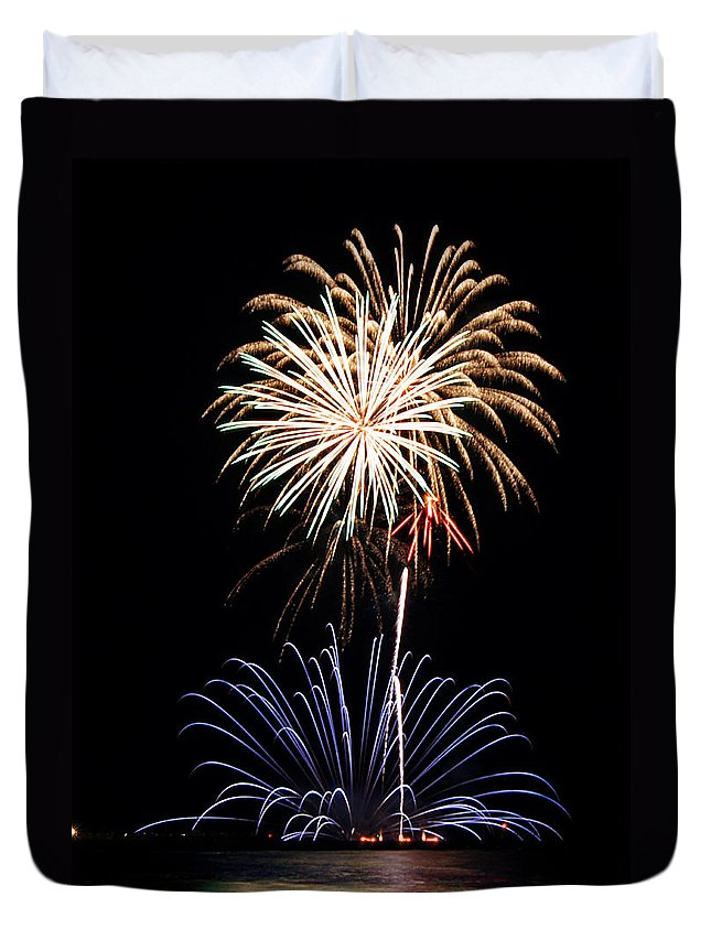 Fireworks Duvet Cover featuring the photograph Fireworks Abound by Bill Pevlor