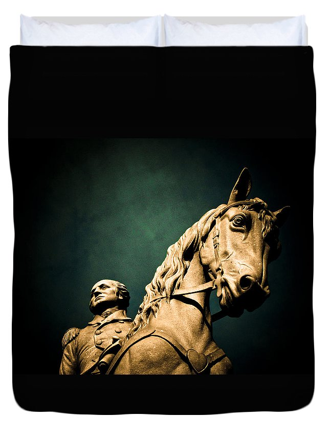 President Duvet Cover featuring the photograph First And Foremost by Jessica Brawley