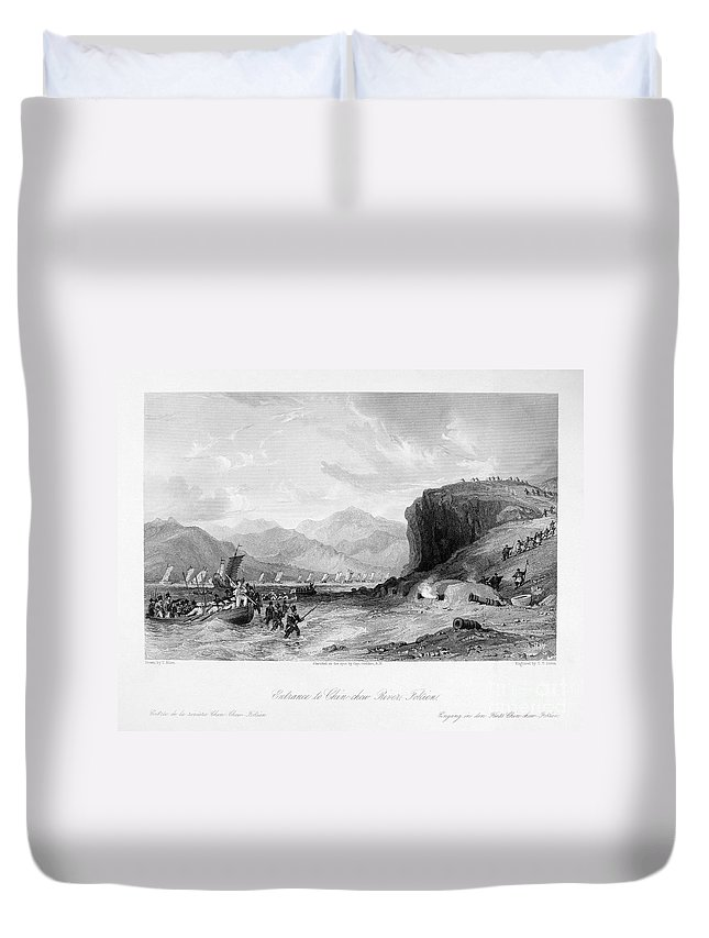 1841 Duvet Cover featuring the photograph First Opium War, C1841 by Granger