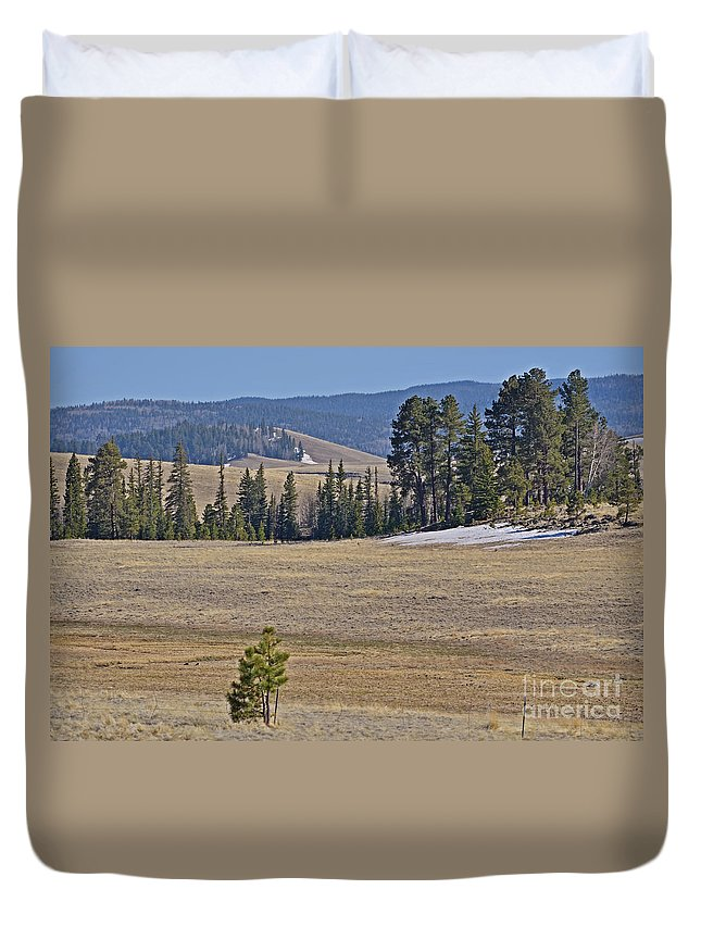 Fine Art Duvet Cover featuring the photograph Fish Creek Valley by Donna Greene