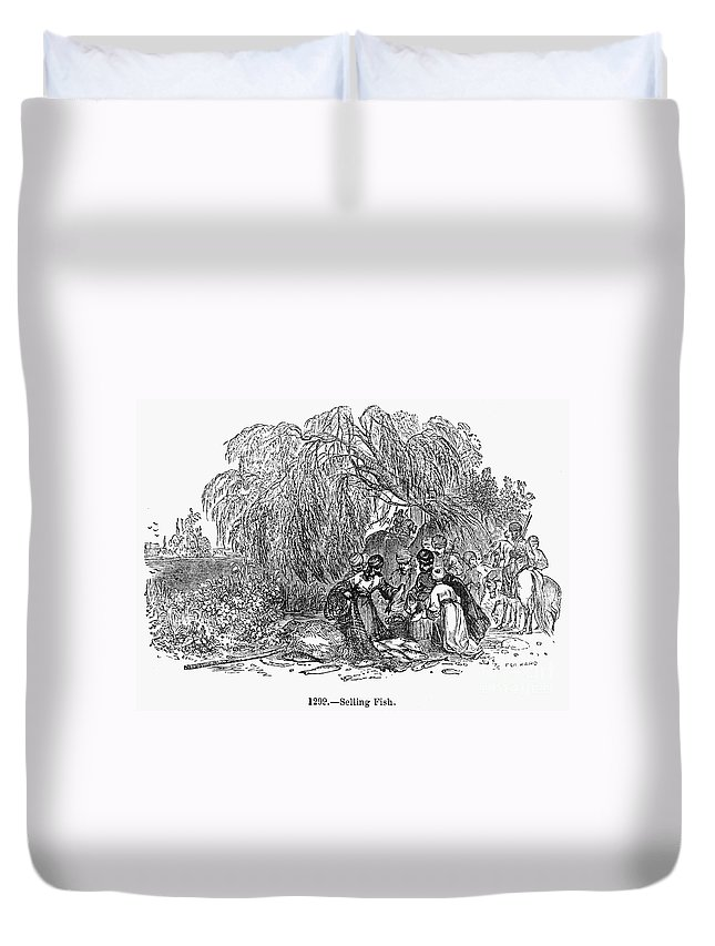1st Century Duvet Cover featuring the photograph Fish Market, 1st Century by Granger