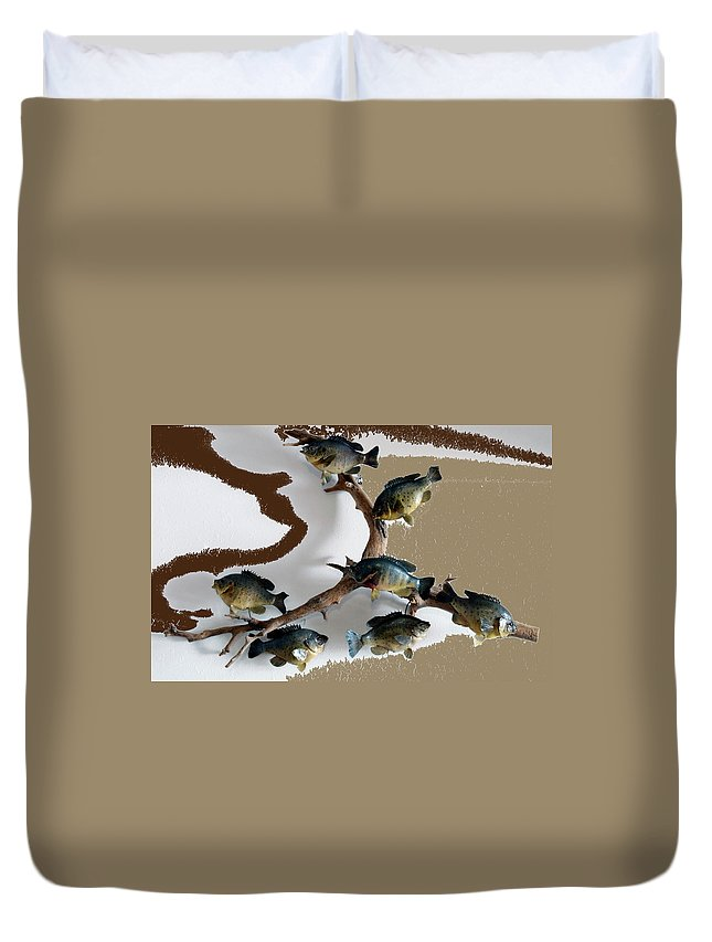 Animals Duvet Cover featuring the photograph Fish Mount Set 05 C by Thomas Woolworth