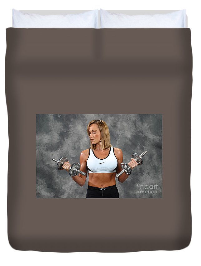 Model Duvet Cover featuring the photograph Fitness 8 by Gary Gingrich Galleries