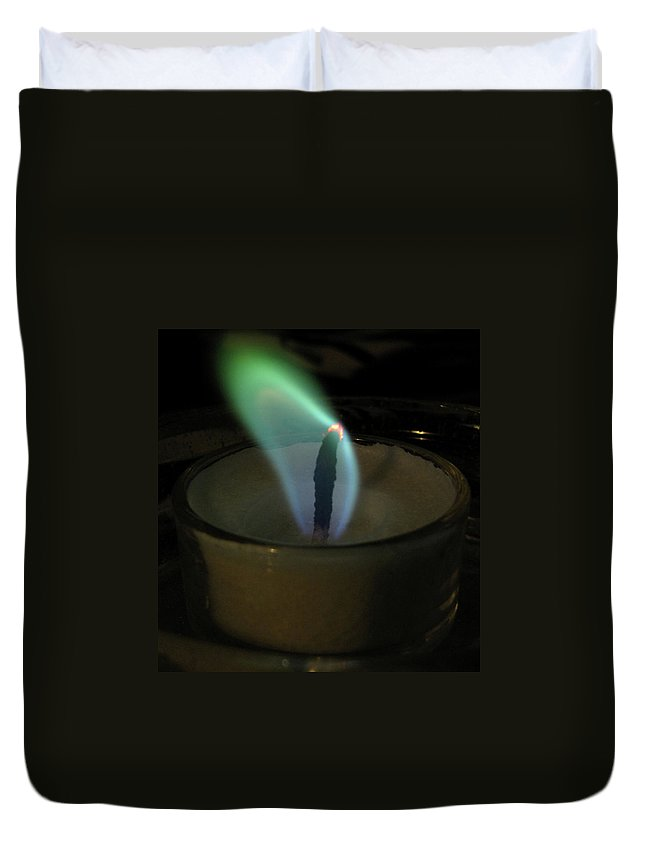 Flame Duvet Cover featuring the photograph Flame by Denise Keegan Frawley