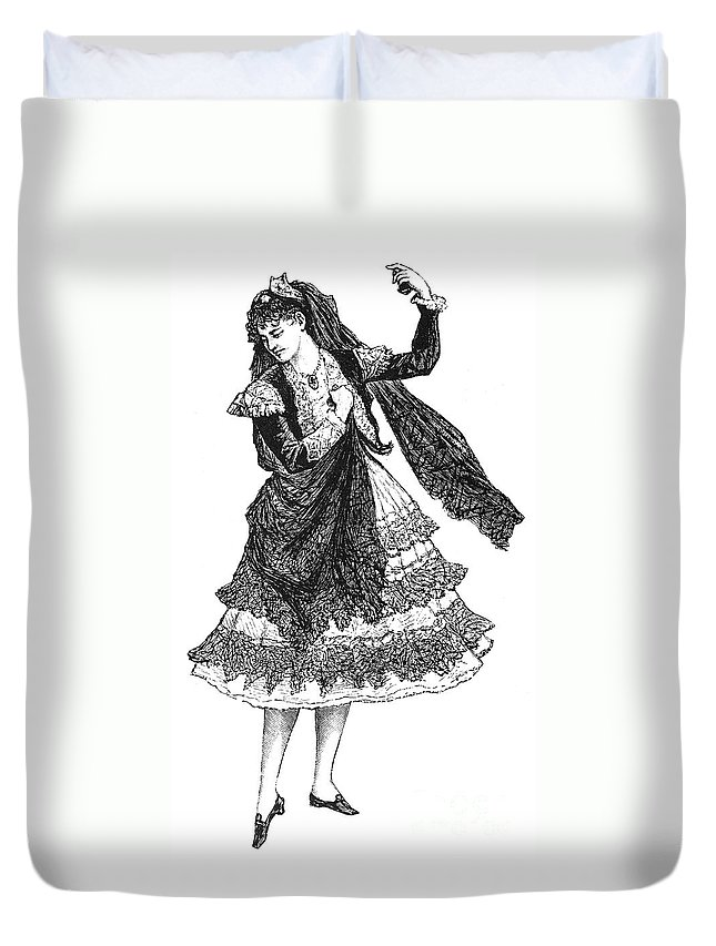 19th Century Duvet Cover featuring the photograph Flamenco Dancer by Granger