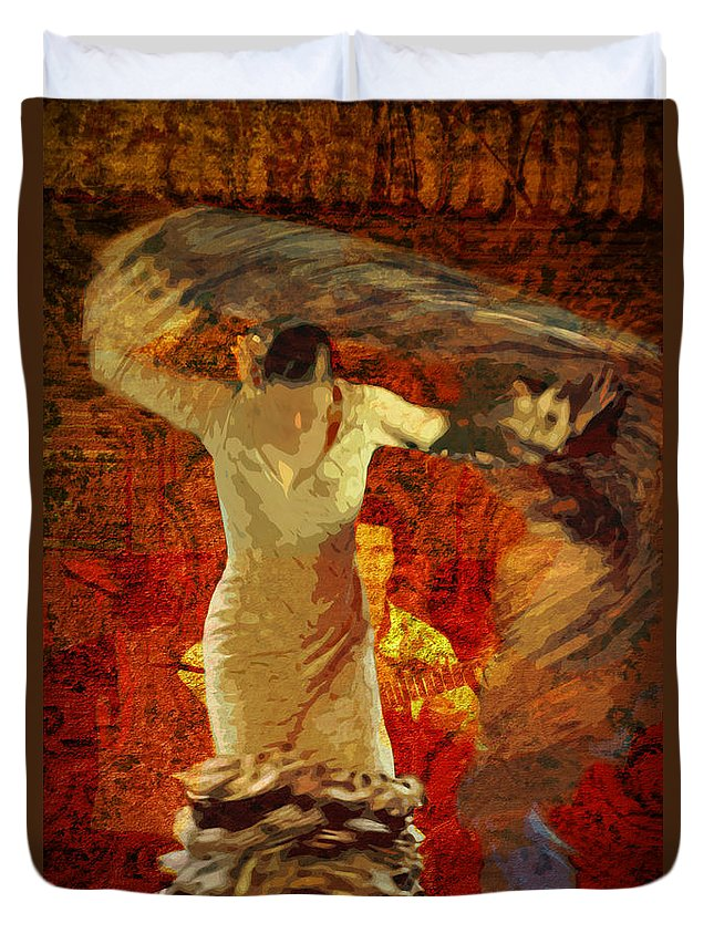 Flamenco Duvet Cover featuring the photograph Flamenco Series No 2 by Mary Machare