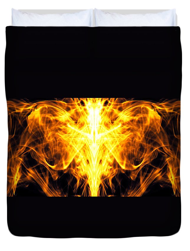 Abstract Duvet Cover featuring the photograph Flames by Sumit Mehndiratta