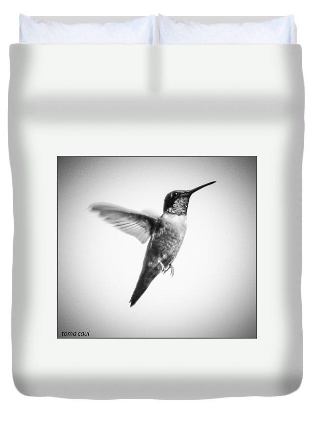 Hummingbird Duvet Cover featuring the photograph Flight Of The Hummingbird by Toma Caul