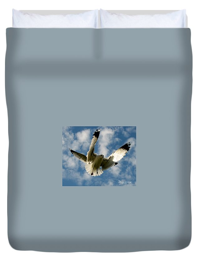 Ga Duvet Cover featuring the photograph Flights Backed Up by Ericamaxine Price