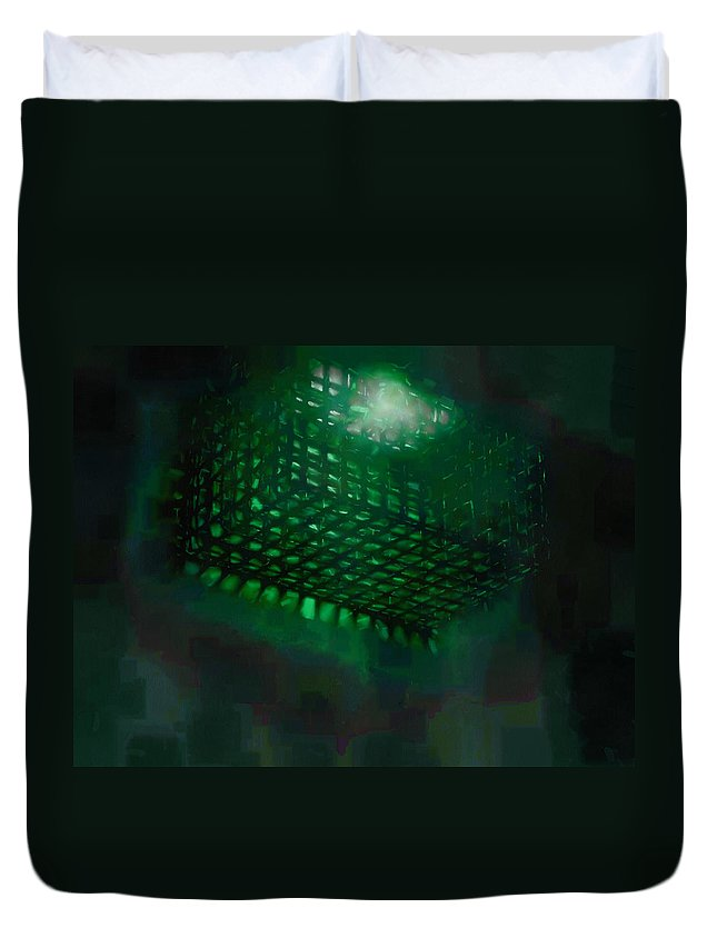 Submerged Duvet Cover featuring the photograph Flood Light by Steve Taylor