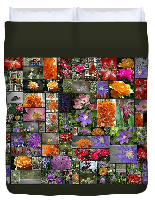 Florals Duvet Cover featuring the photograph Florals by Donna Bentley