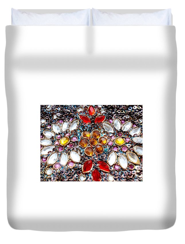 Blossoming Duvet Cover featuring the photograph Flower Of Beads by Sumit Mehndiratta