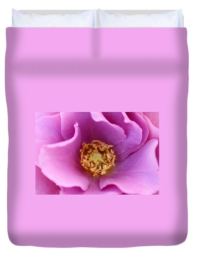 Rose Duvet Cover featuring the photograph Flower Power by Diana Haronis