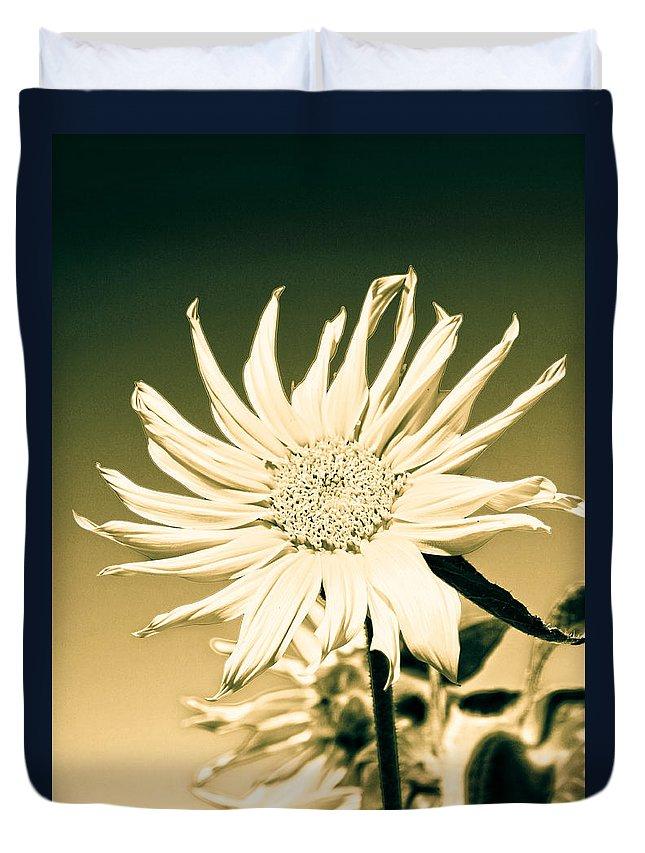Hippy Duvet Cover featuring the photograph Flower Power by Steve McKinzie