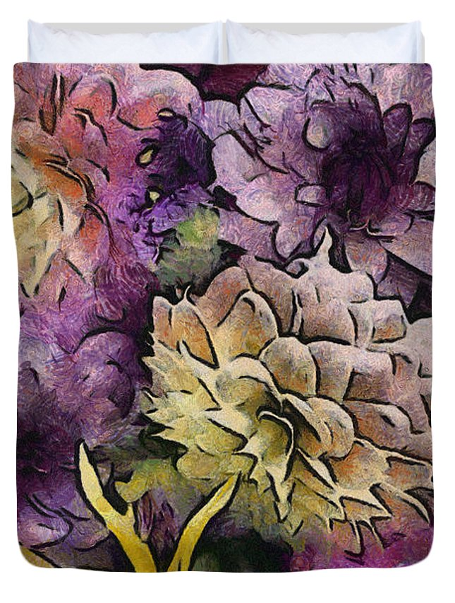 Flower Duvet Cover featuring the photograph Flower Power by Trish Tritz