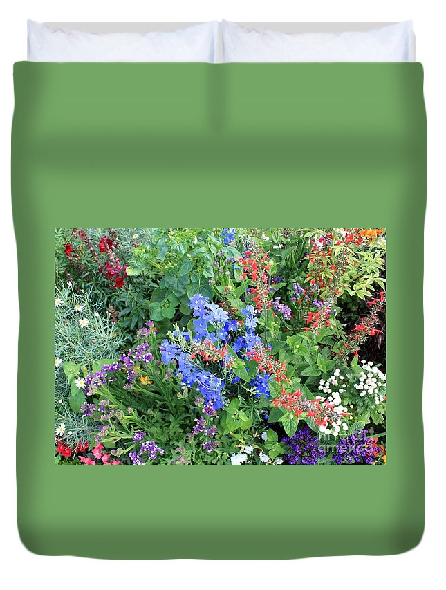 Flowers Duvet Cover featuring the photograph Flowers Galore by Carol Groenen