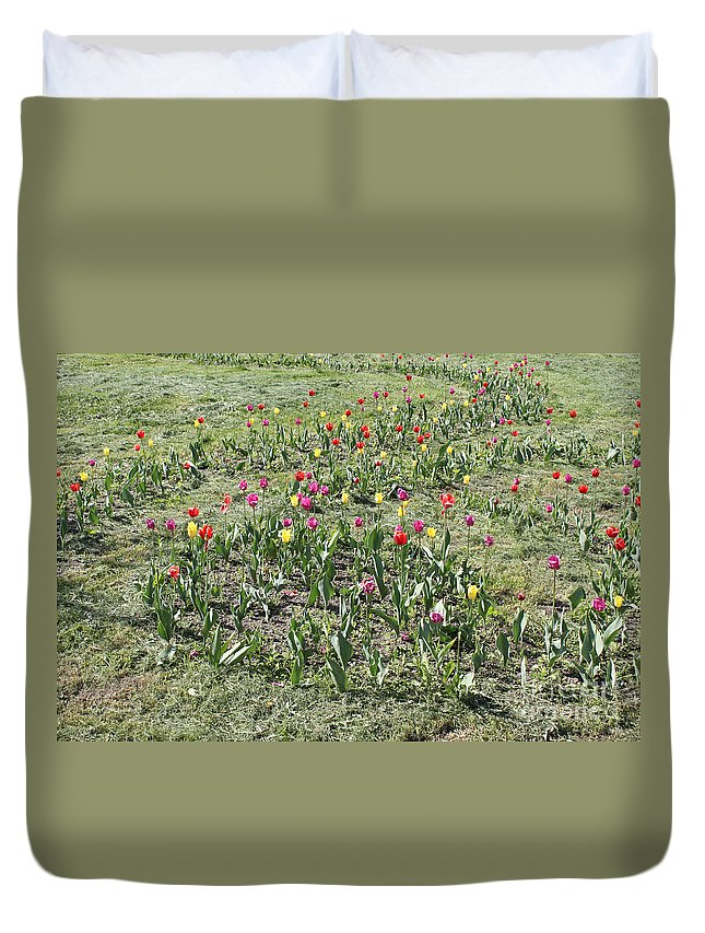 Beautiful Duvet Cover featuring the photograph Flowers In Spring by Evgeny Pisarev