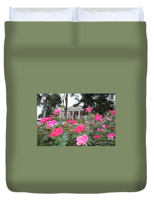 Tate Duvet Cover featuring the photograph Flowers Of Tate by Jost Houk