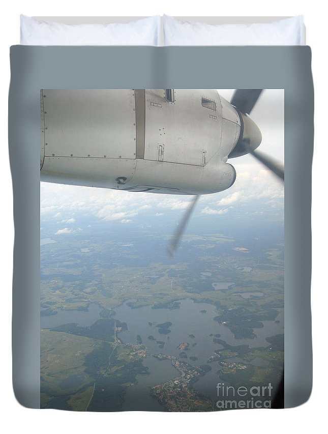 Flight Duvet Cover featuring the photograph Flying Home by Ausra Huntington nee Paulauskaite