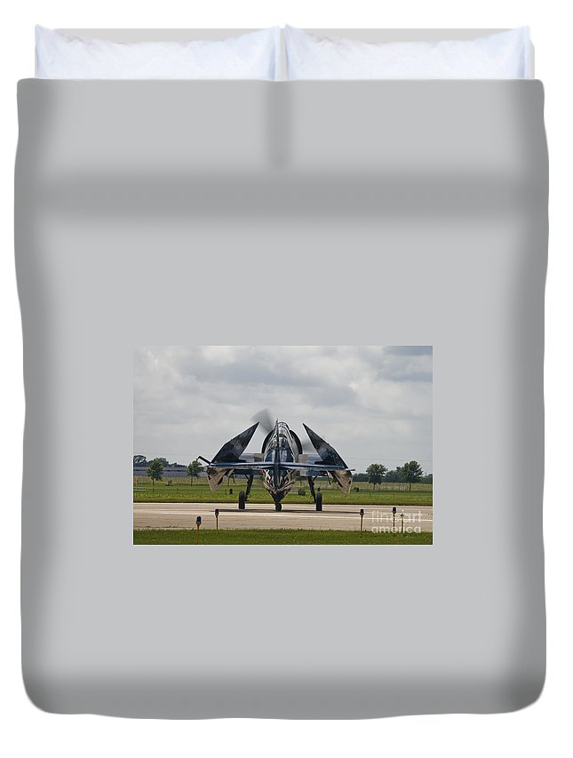 Tbm Duvet Cover featuring the photograph Folded Wings by Tim Mulina
