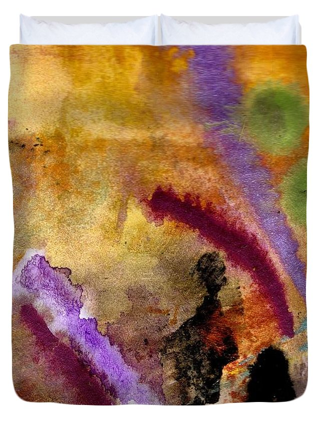 Greeting Cards Duvet Cover featuring the painting Follow Me I Know The Way by Angela L Walker