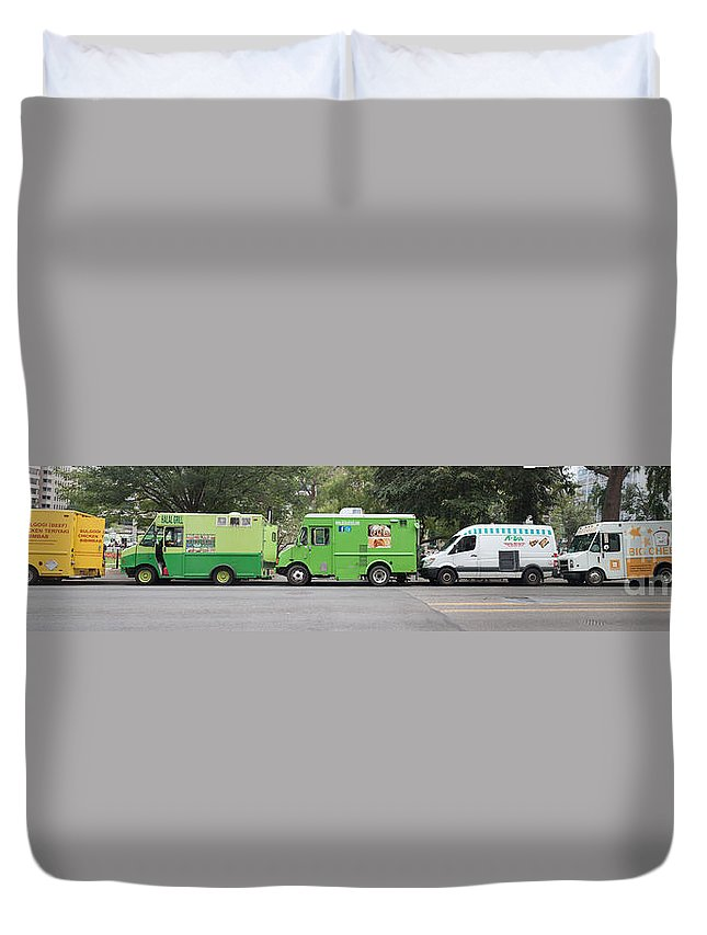 Americana Duvet Cover featuring the photograph Food Trucks by Thomas Marchessault